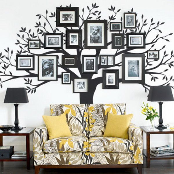 Picture Frame Wall Decals creative gallery wall ideas | wall decals, walls and frames ideas