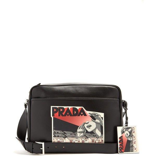 570fa69e4a Prada Comic-strip print leather messenger bag ( 2