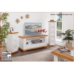 Photo of TV chest of drawers TV table Shabby Chic country style, white pine 1a direct import