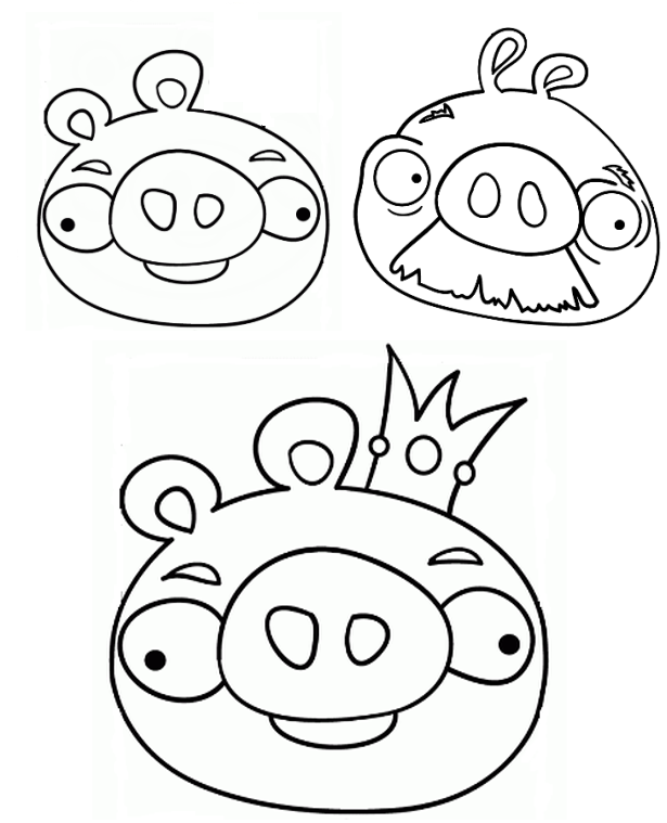 angry birds helmet pig coloring pages | Angry Coloring Page Space Yellow Birds | Angry Birds Pigs ...