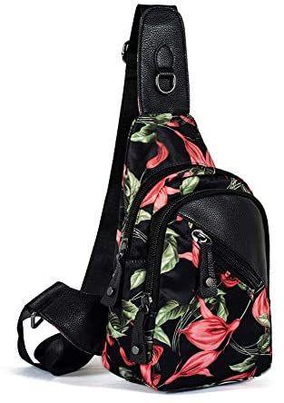 Leaper Women Messenger Bag Cross Body Bag Sling Bag Travel Bag Bamboo flower