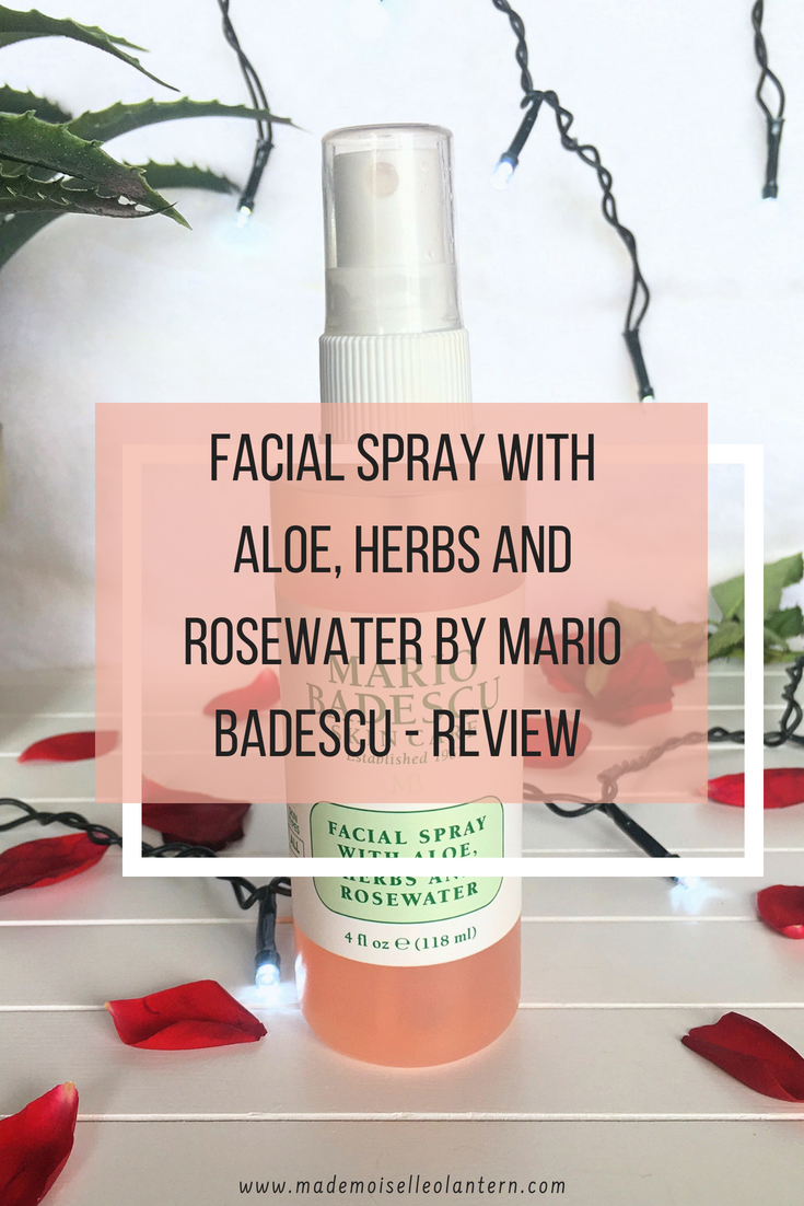 Facial Spray With Aloe Herbs And Rosewater By Mario Badescu