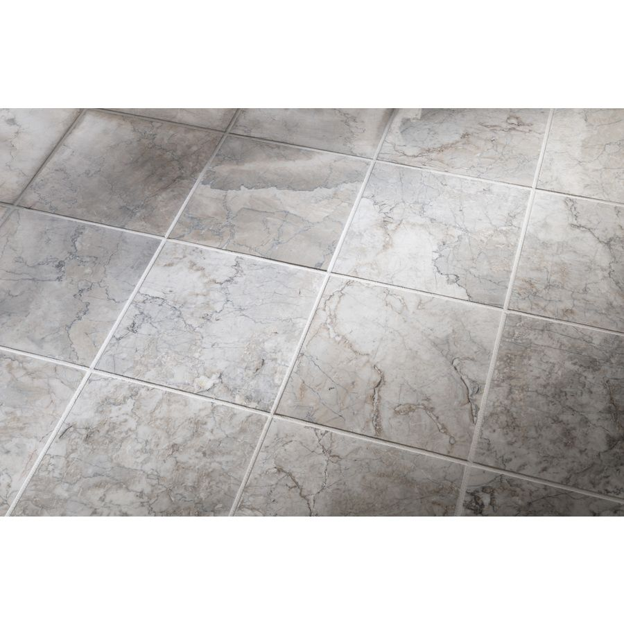 Shop Allen Roth 10 Pack Grey Natural Stone Marble Floor Tile