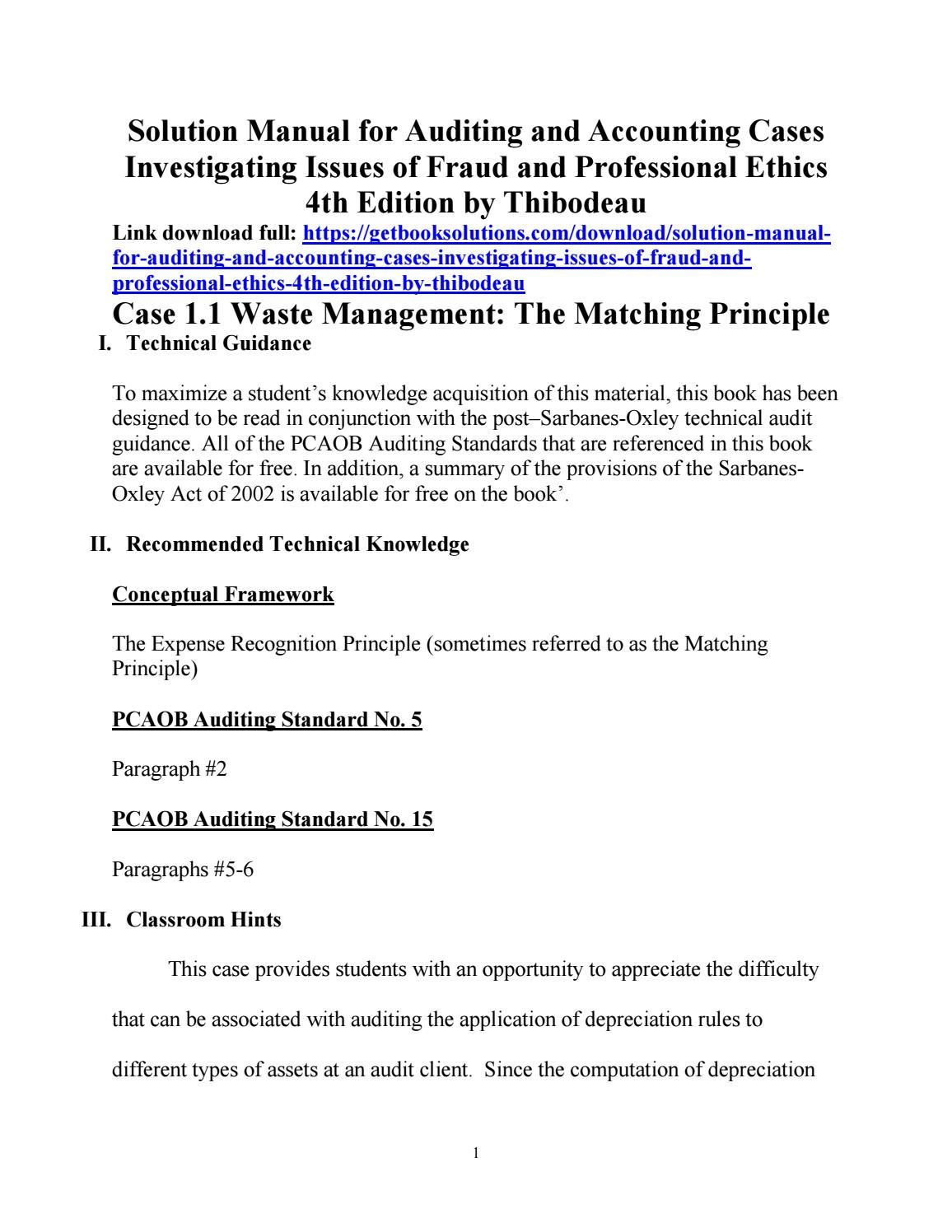 solution manual for auditing and accounting cases investigating rh pinterest com auditing cases solution manual Math Solution Manual