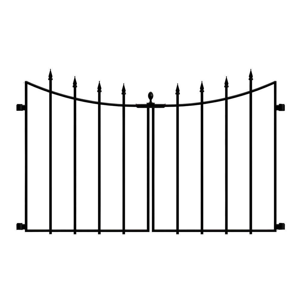 Empire Westbrook 28 In Black Steel Decorative Fence Gate 860176