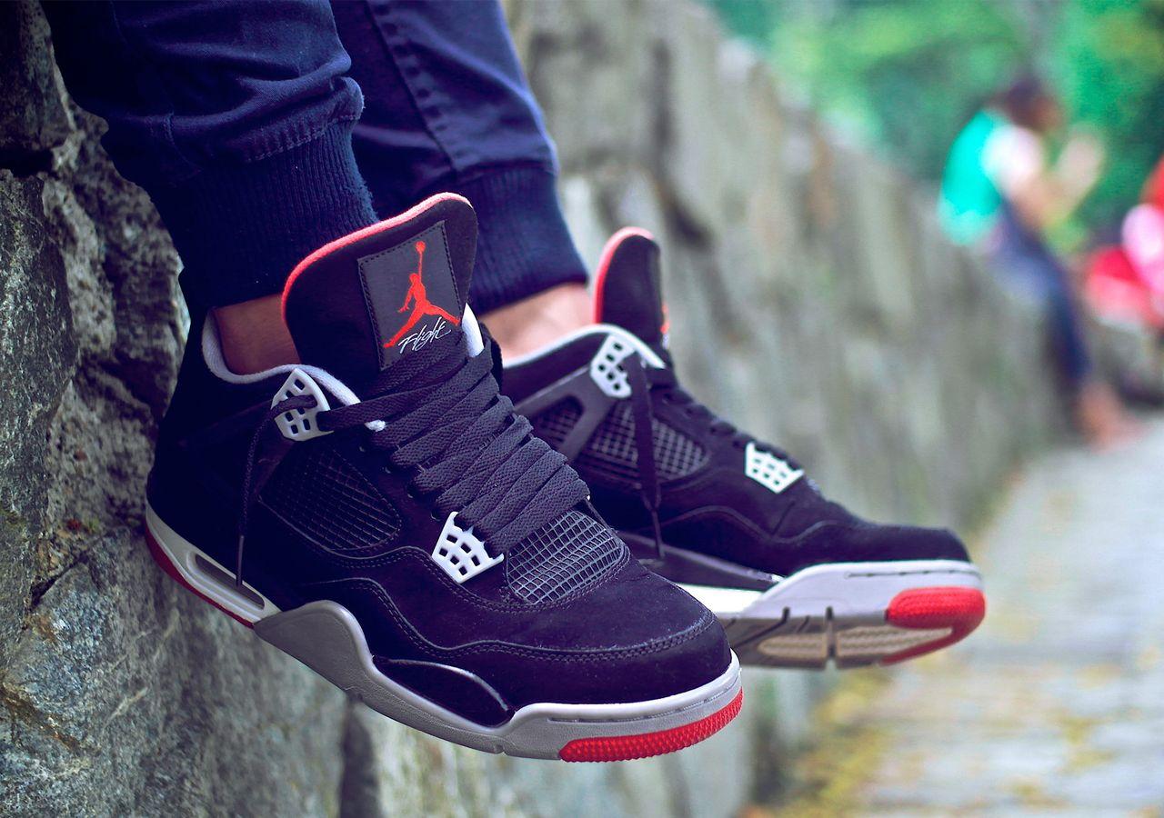 4284e5679a7 ... mars blackmon 94425 7c7d7 store nike air jordan iv retro bred by  blackbi1rd sweetsoles sneakers kicks and trainers. on ...