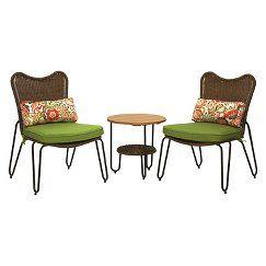 Turner 3 Piece Wicker Bistro Set Wicker Patio Furniture Outdoor