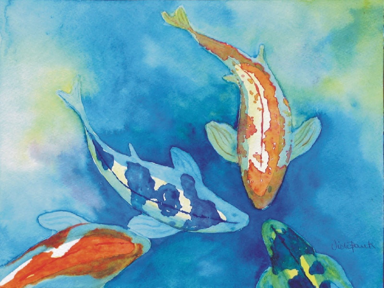 Koi fish painting watercolor images for Watercolor fish painting