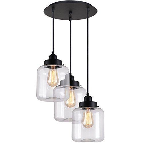 Midcentury Modern Unitary Brand Vintage Gl Shade Jar Pendant Light Max 180w With 3 Lights Painted