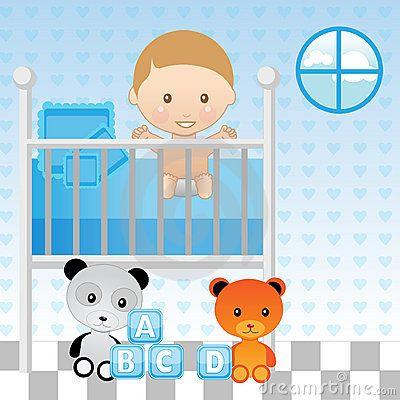 Cartoon Baby Crib   Royalty Free Stock Photography: Baby ...