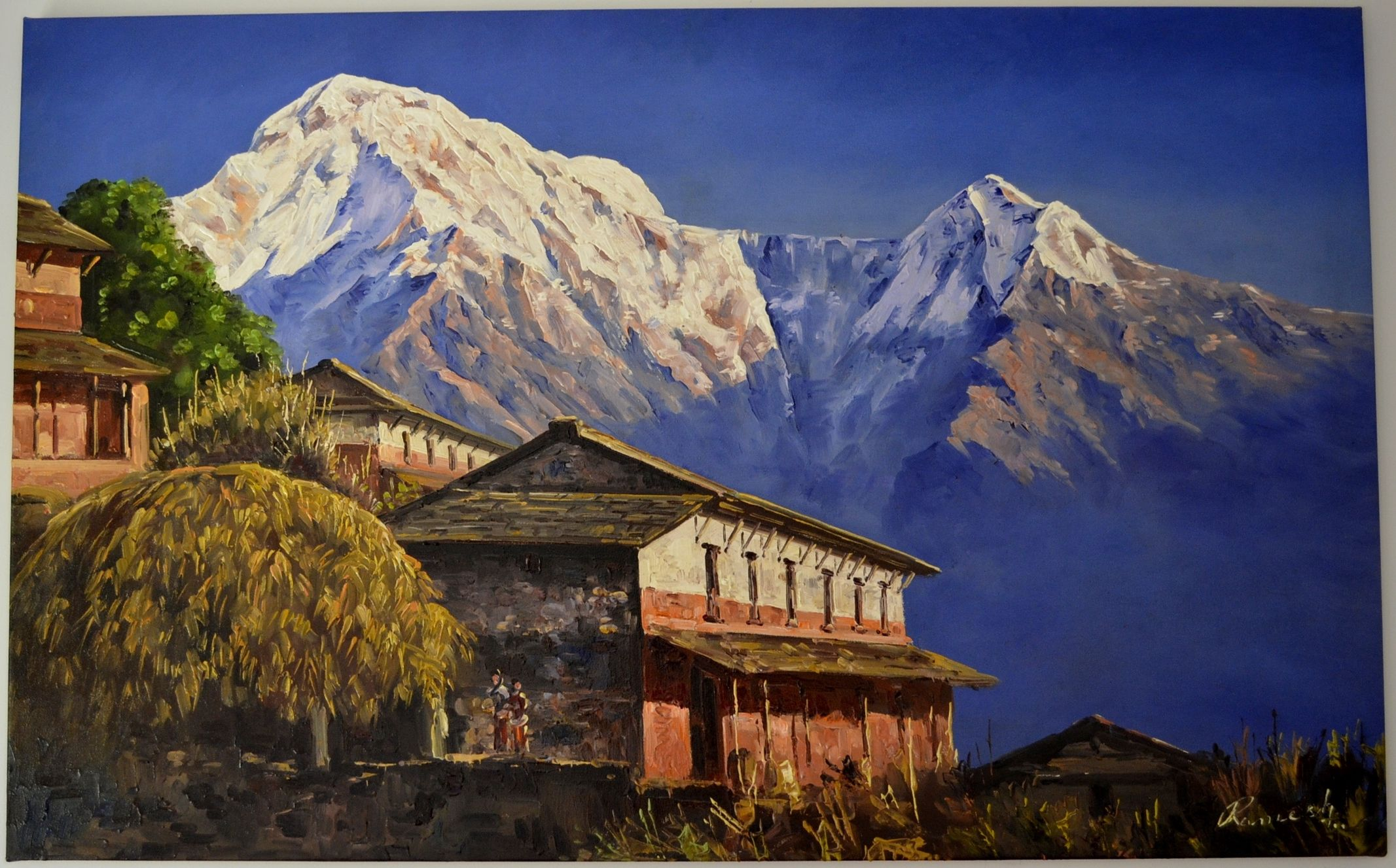 Paintings from nepal nepalese landscape