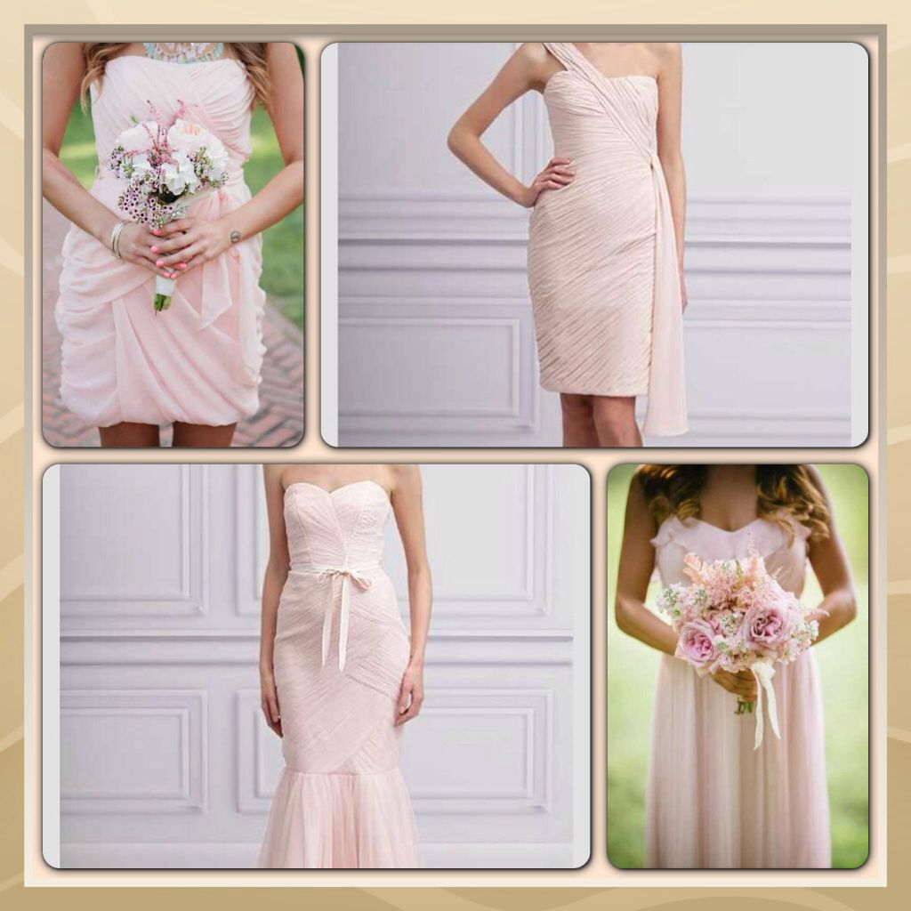 Blush bridesmaid dresses the marriage of a lifetime pinterest