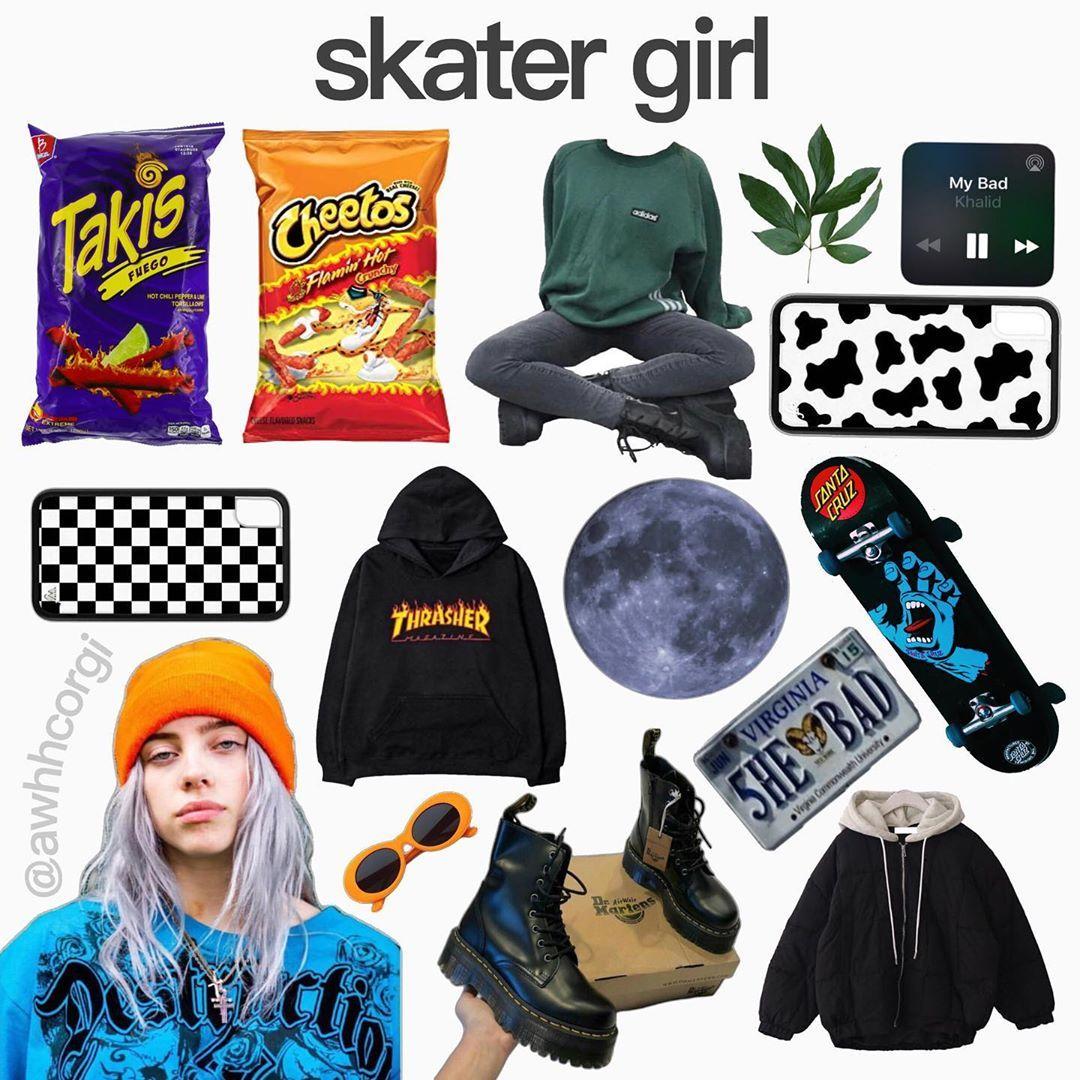 Emo Skater Girl Aesthetic