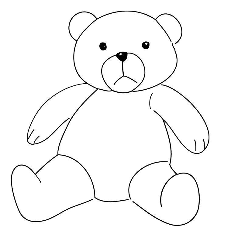 Coloriage ours colorier dessin imprimer boucle d - Ours a dessiner ...