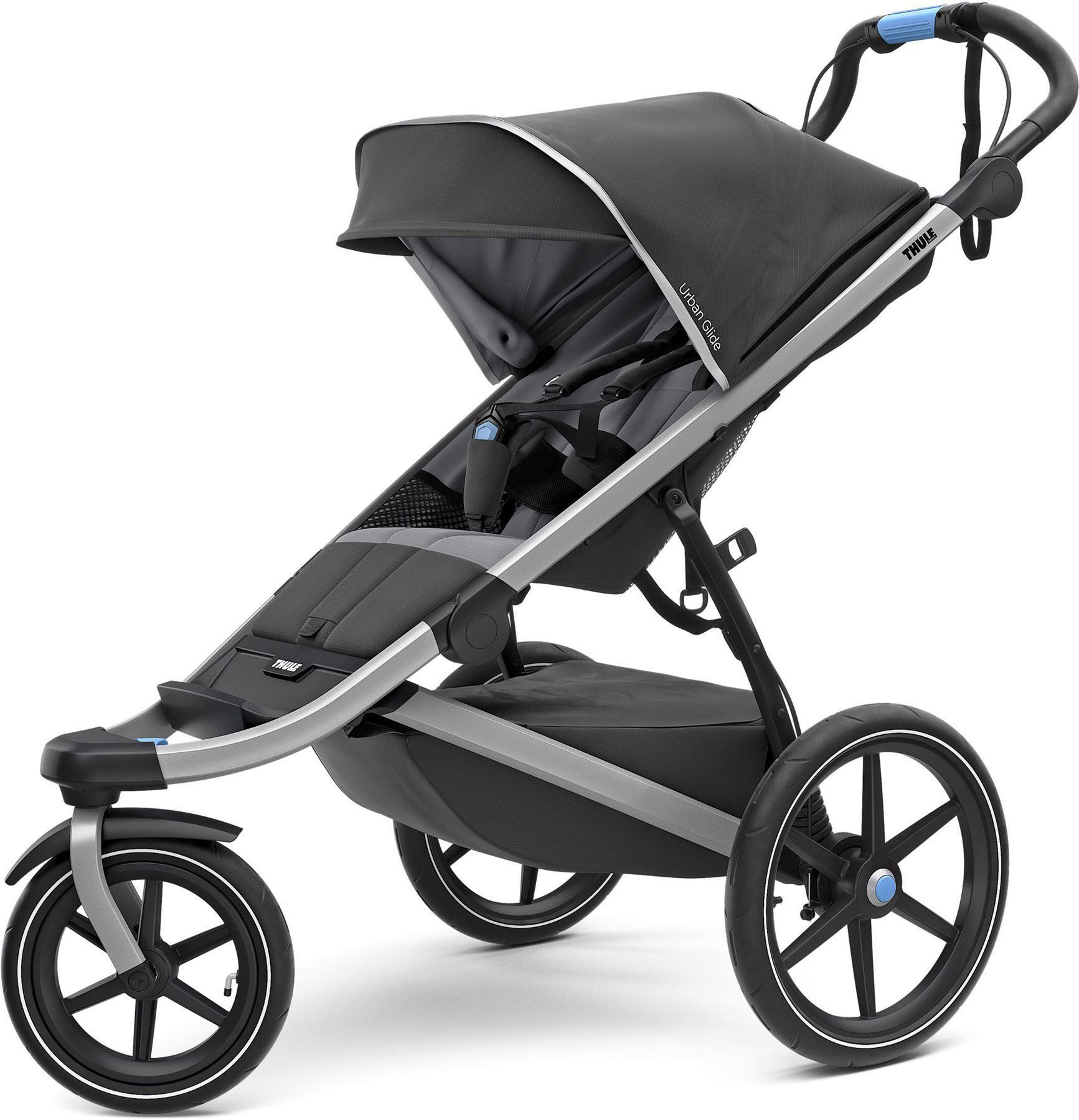 Thule Sleek Convertible Stroller In Grey Melange City