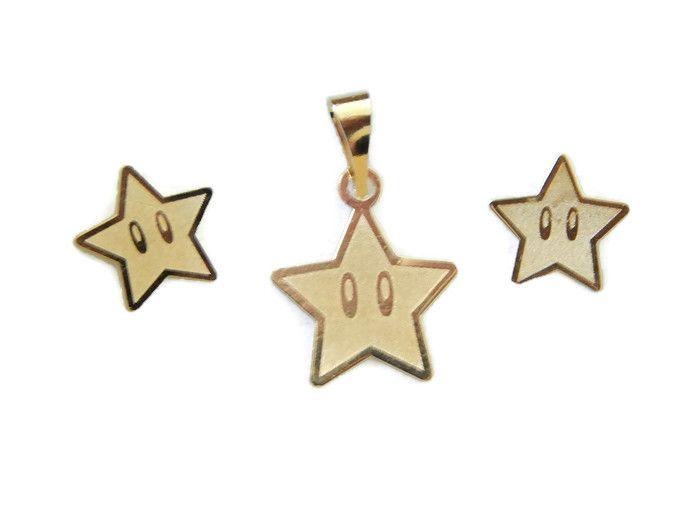 Bdol Estrella Broquel De Estrella En Oro Laminado Medida Broquel