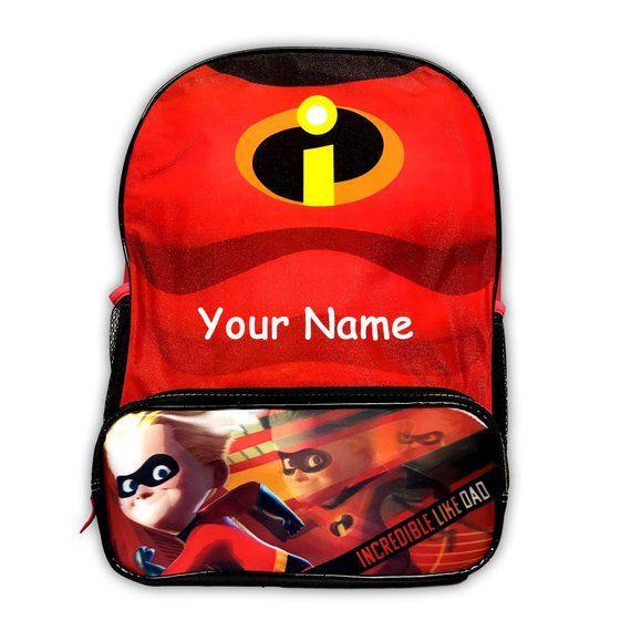 Personalized Monogrammed Disney Pixar The Incredibles 2 Superhero Dash  Incredible Like Dad Chest Bac 061764916631c