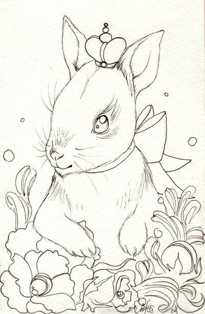 princess bunny lines by catzilla deviantart com
