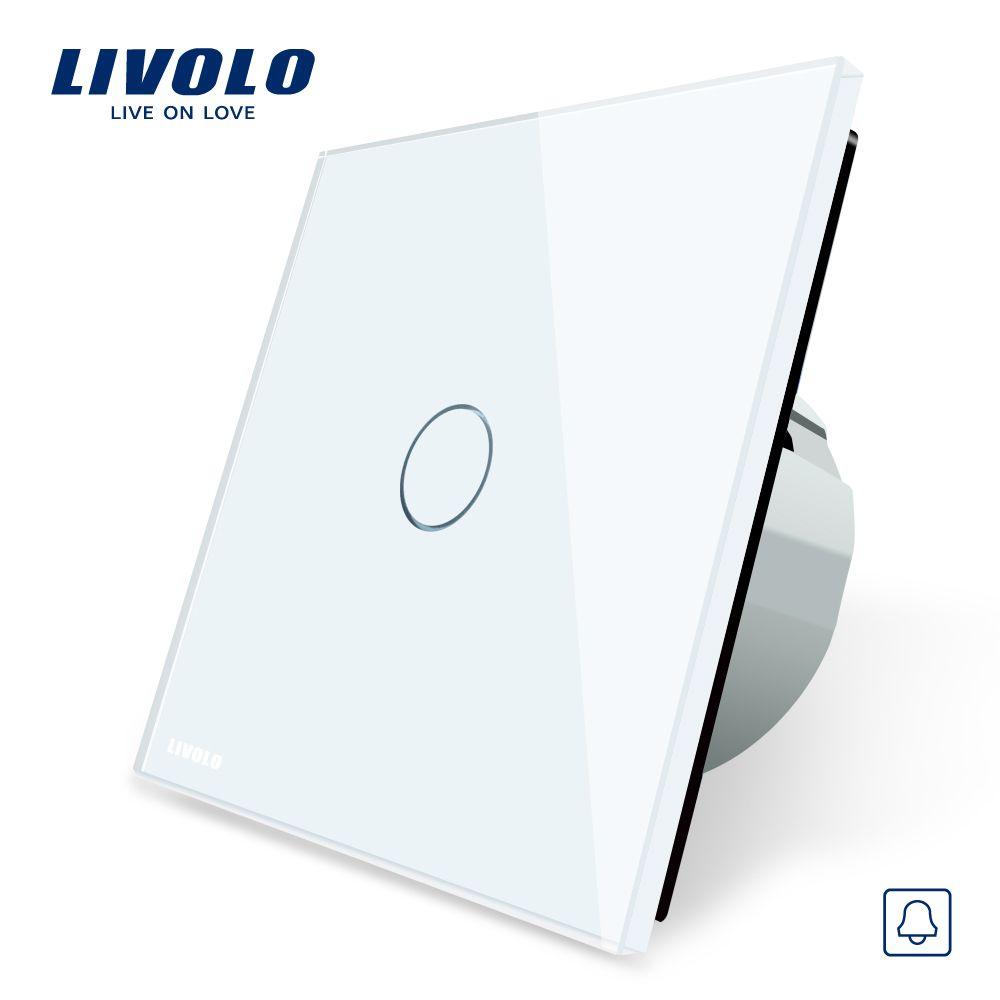Livolo ue standard, Interruttore porta Campana, Pannello di Cristallo Switch, 220 ~ 250 V Touch Screen Interruttore Porta Campana, VL-C701B-1/2/3/5