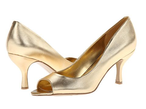 Nine West Quinty Warm Gold Synthetic - 6pm.com