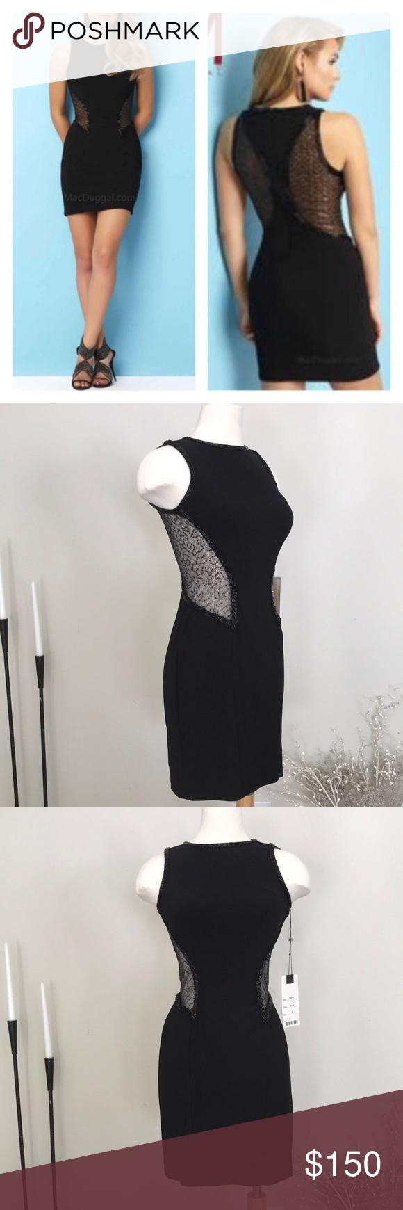 mac duggal black sequin prom dress nwt my posh closet