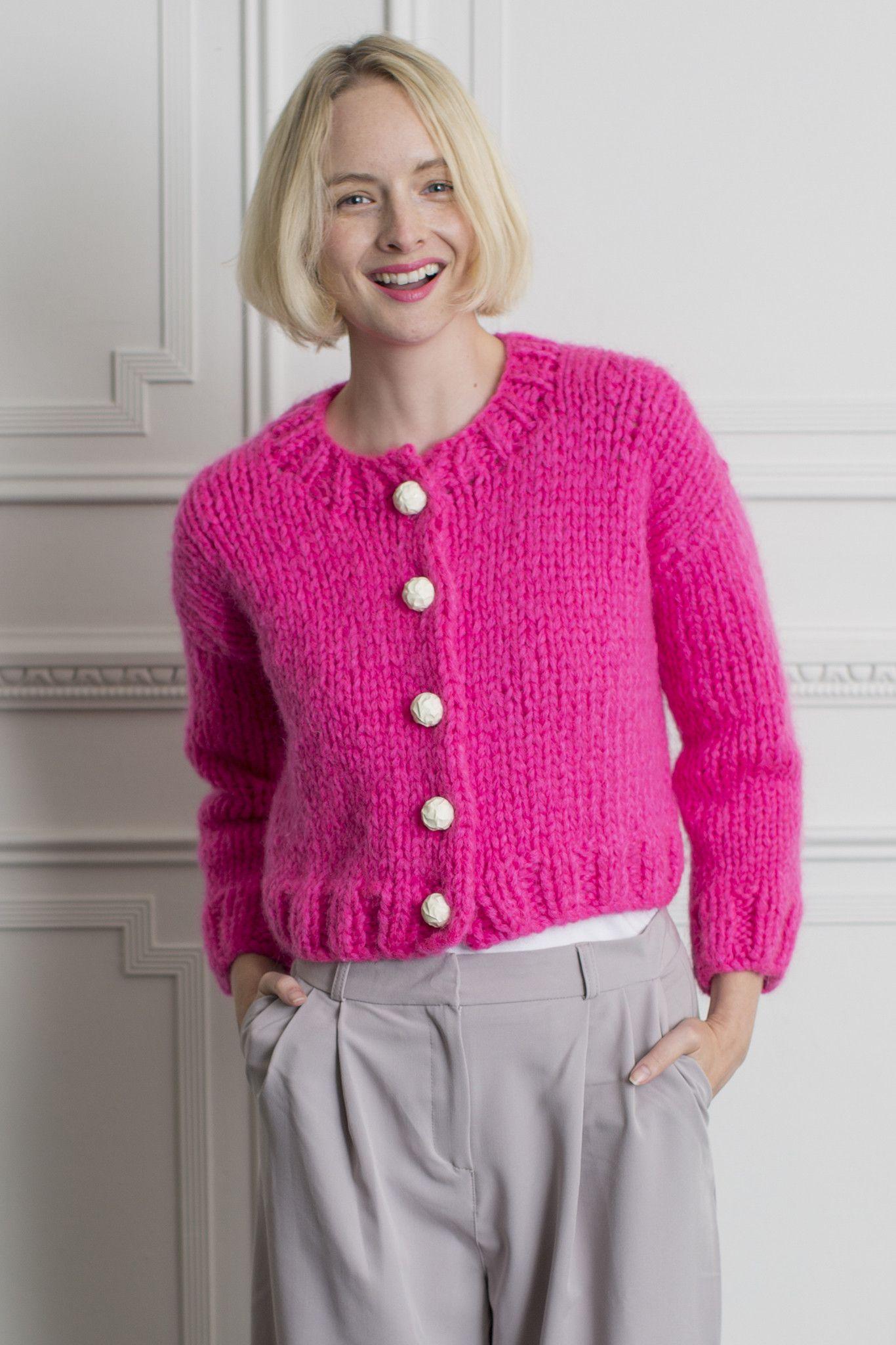 Womens Cropped Cardigan Knitting Pattern | The Knitting ...
