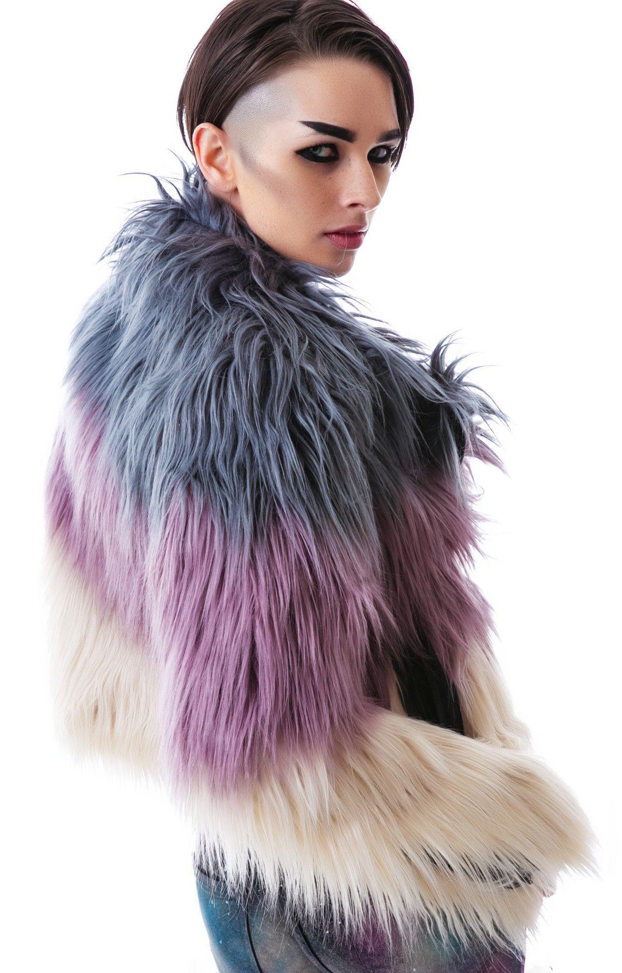 Fur Coat Faux RECiOJ