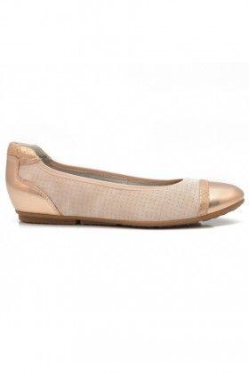 Rózsaszín Bronz Tamaris Női Balerina cipő  0563be6468