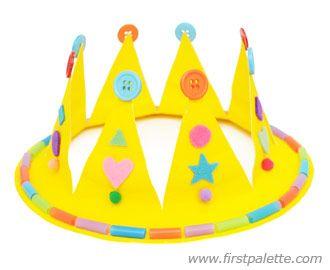 Paper Plate Crown Craft Kids Crafts Firstpalette Com