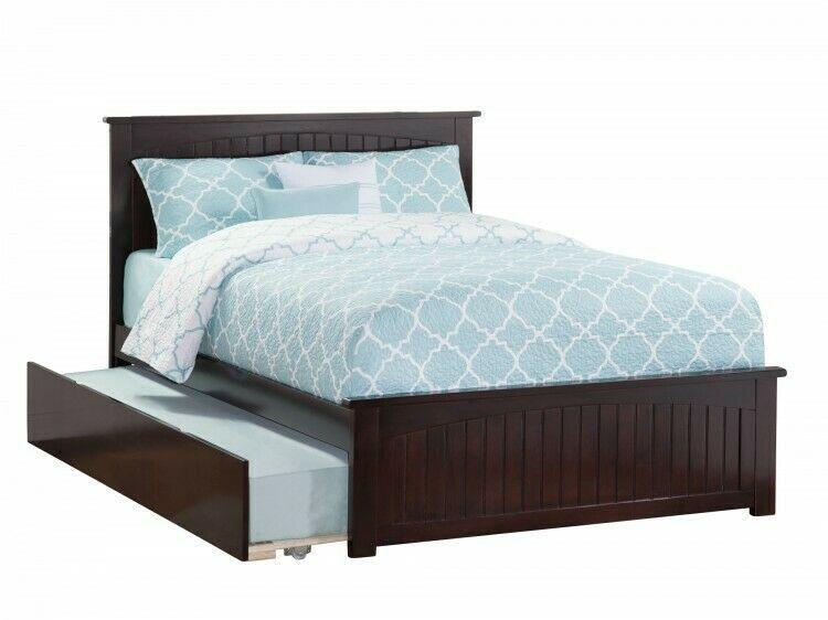 Details About Full Platform Bed Wooden Storage Bedframe Espresso