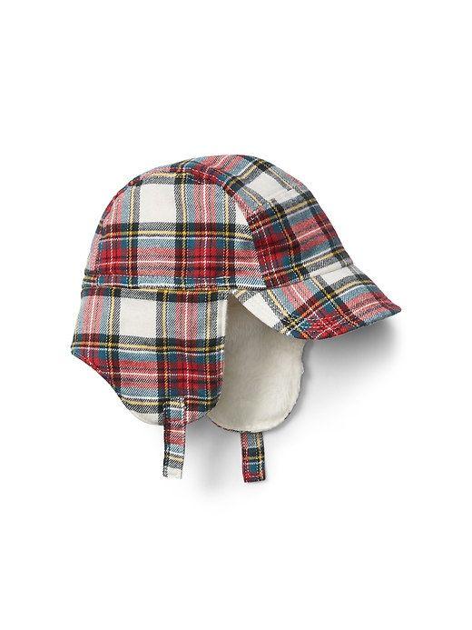 a5468749a56 Cozy plaid trapper hat