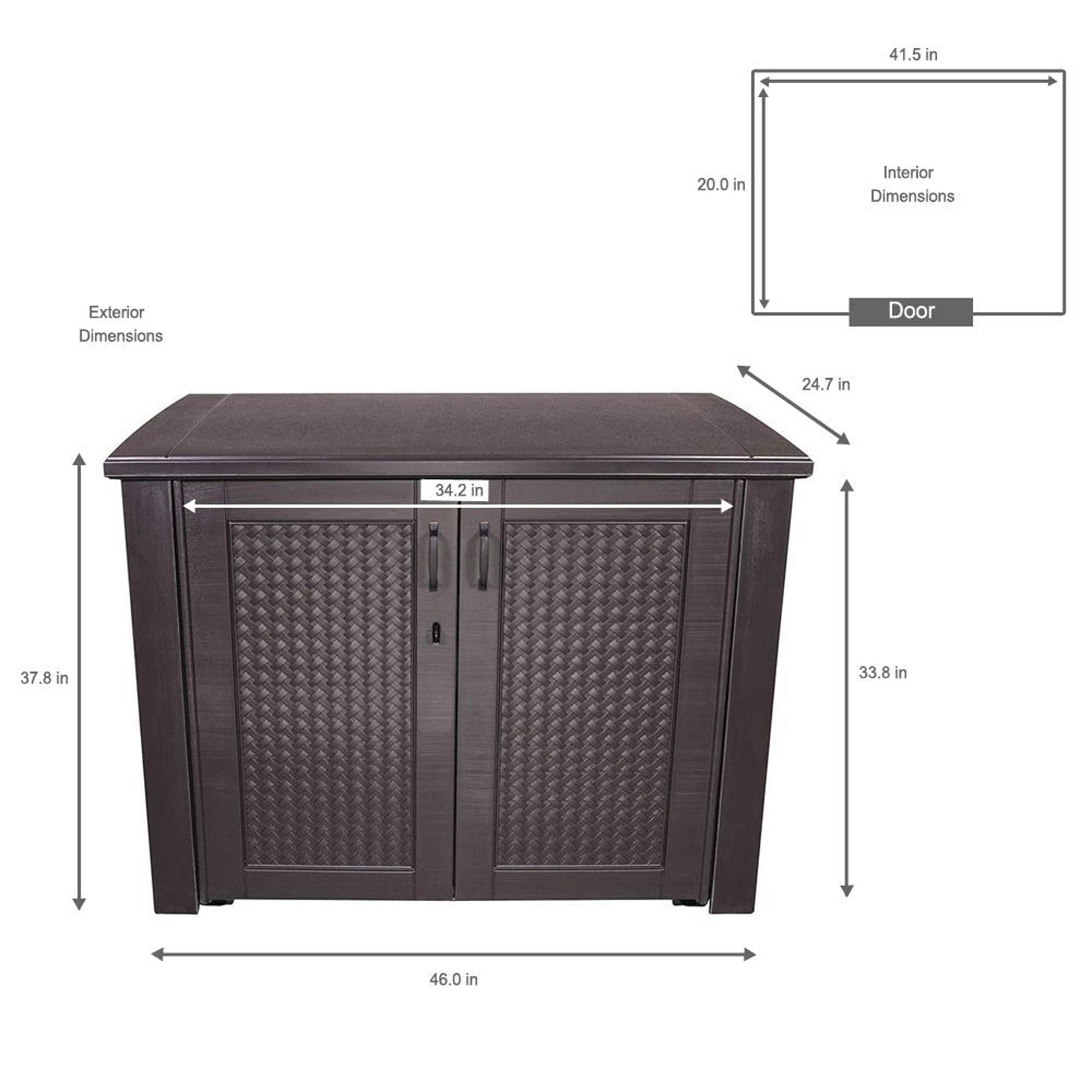 Rubbermaid Outdoor Storage Patio Series Cabinet 1889849 Click