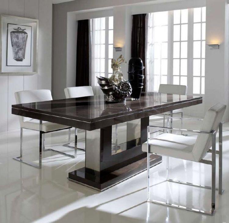 Elegante Mesa De Comedor Extensible Hasta 50cm Extra Disponible En Varios Acabados Mesas De Comedor Modernas Comedores De Marmol Mesas De Comedor Extensibles