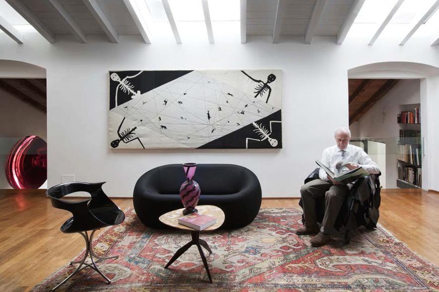A casa del gallerista Massimo Minini - Living Corriere