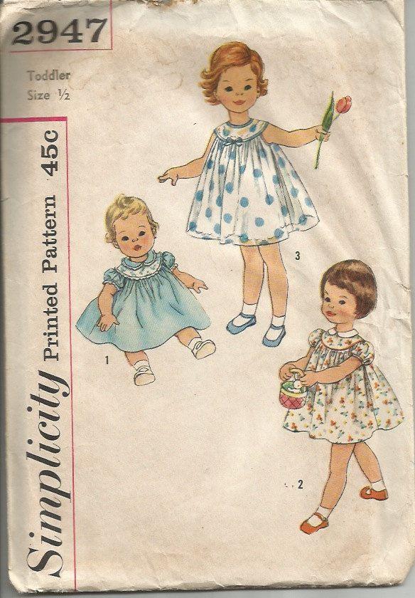Vintage Dress Pattern | Vintage | Pinterest | Kind mode, Kleider ...