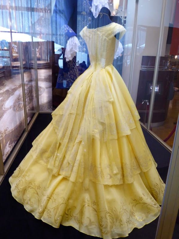 Emma Watson Beauty And The Beast Belle Yellow Gown Back Belle Dress Belle Costume Dresses