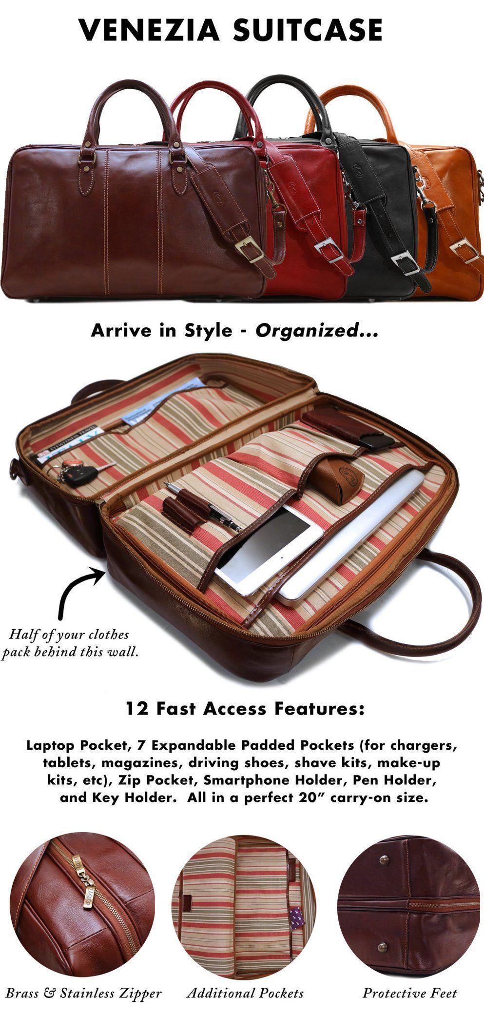 6f95e669fe8d Venezia Suitcase Duffle Bag | Pika na i | Bags, Travel bags, Leather ...
