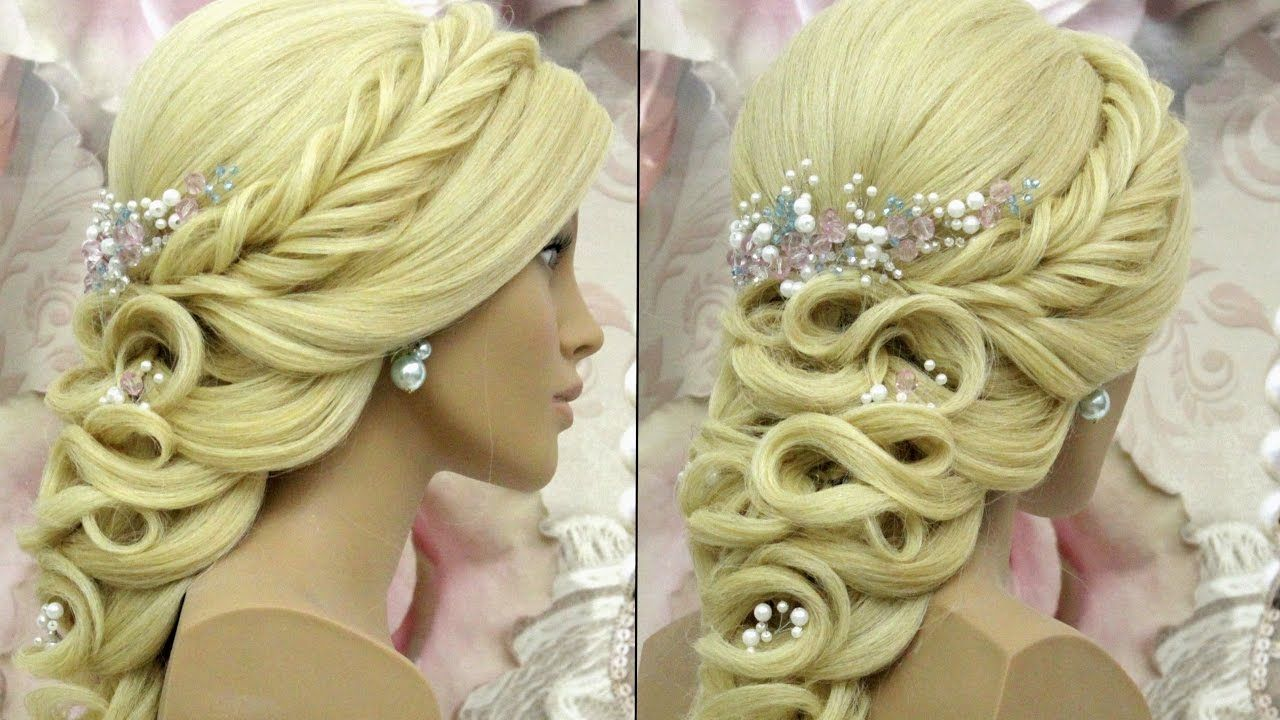 Wedding prom hairstyles for long hair tutorial