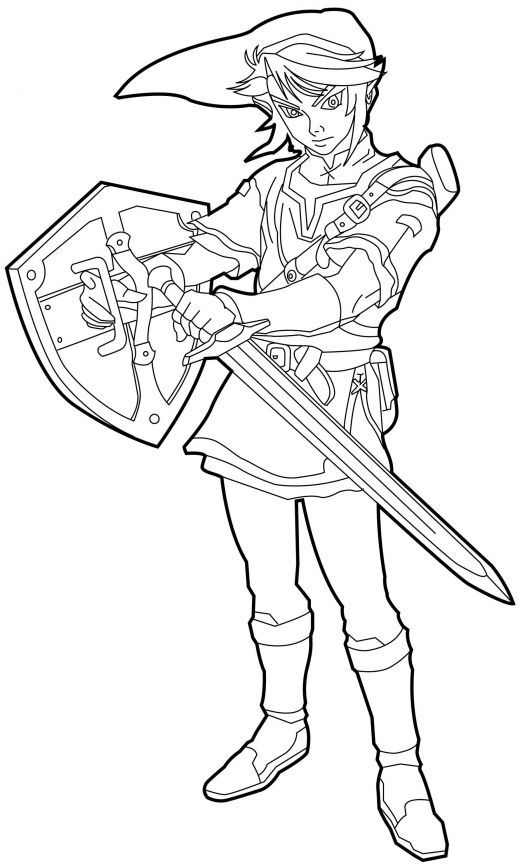 Legends Of Zelda Coloring Pages Printable And Book To Print For Free Find More Online Kids Adults