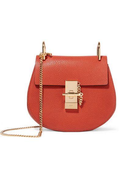 015dea63 CHLOÉ Drew Mini Textured-Leather Shoulder Bag. #chloé #bags ...