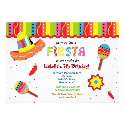 mexican fiesta birthday party invitations 1st birthday party