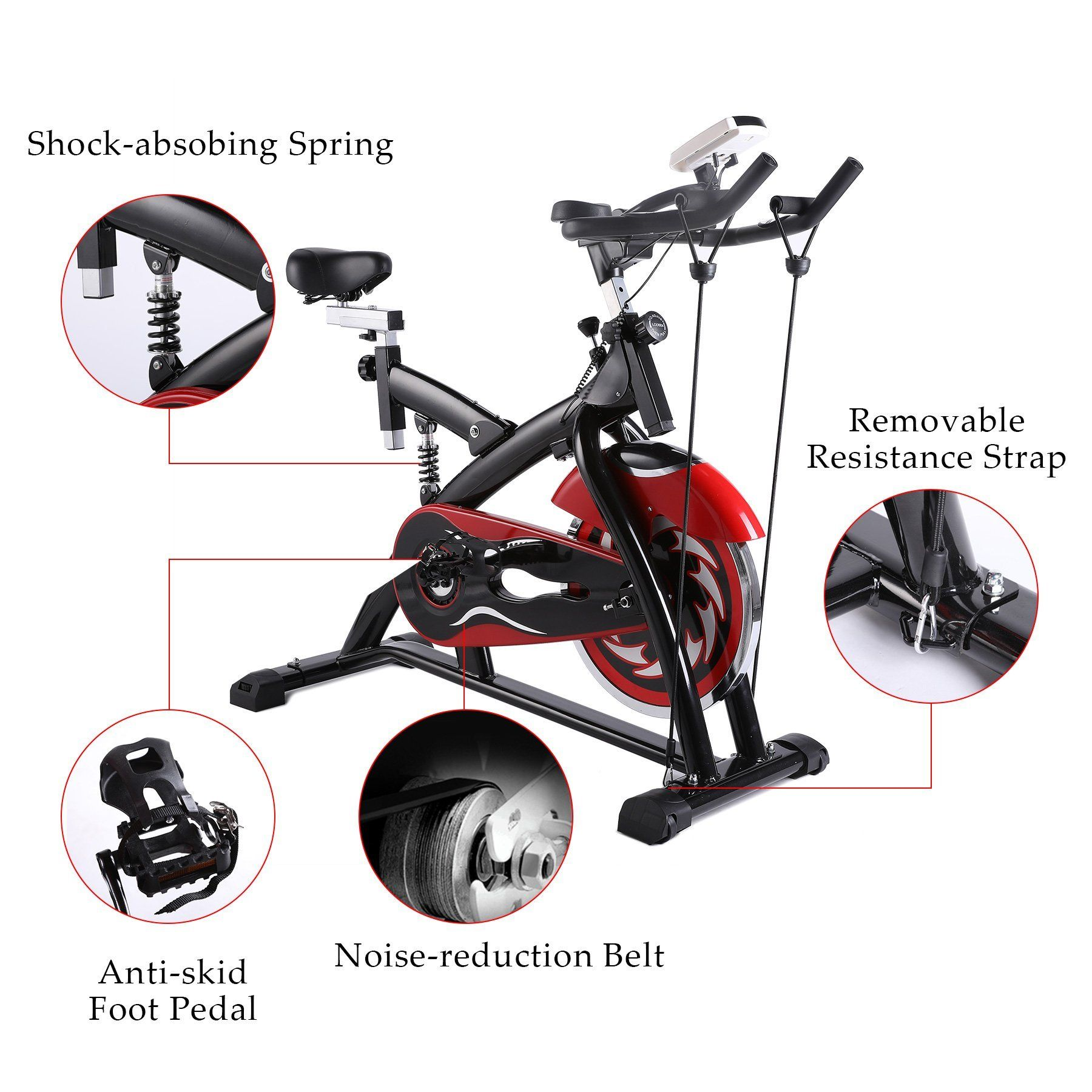 Z Zelus Stationary Exercise Bike Indoor Cycling Bike Trainer With