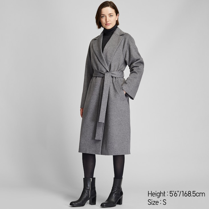 Full lining. Handmade decoration on sleeves Cozy woman cashmere relax fit coat