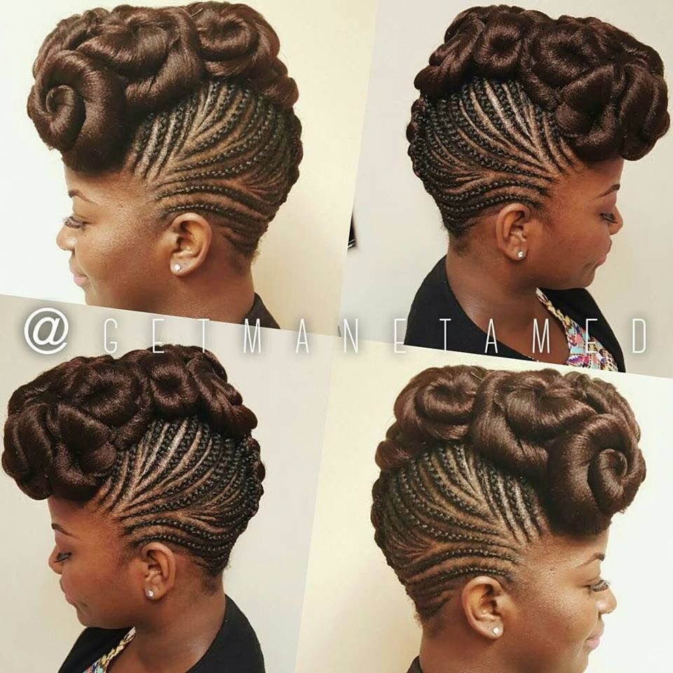 Cruise trip style braided pinterest hair style updo and black