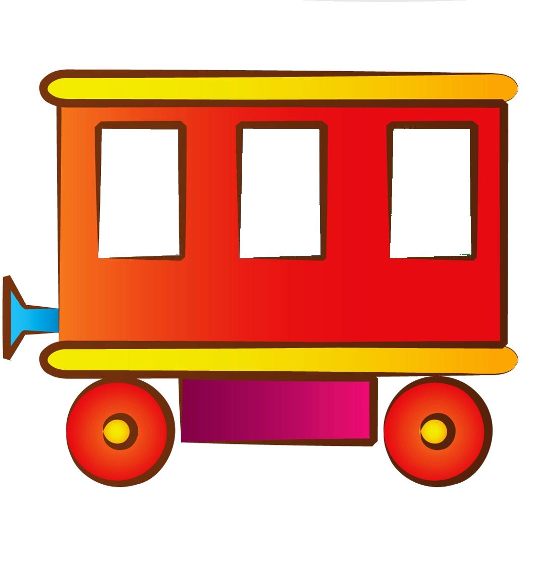 рисунок вагончики поезда была