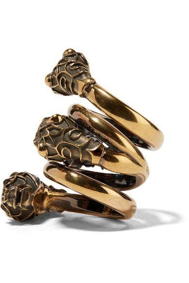 5989ccacd Gucci - Gold-plated Swarovski crystal ring   belly rings   Swarovski ...