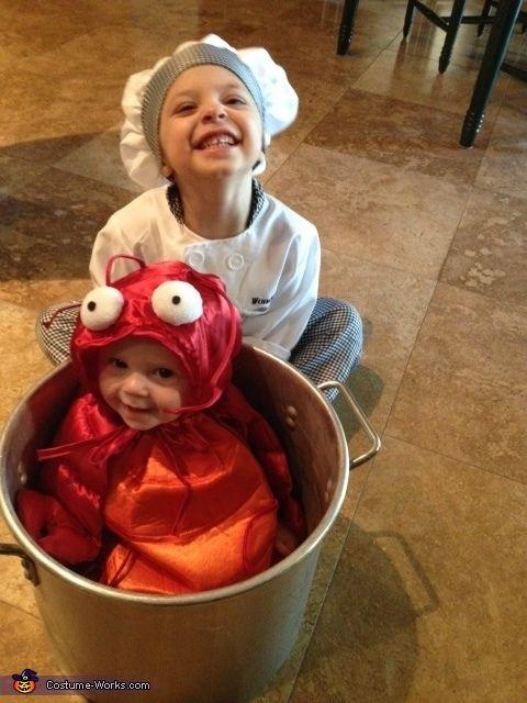 Chef Cocinar la langosta - trajes hechos en casa para niños