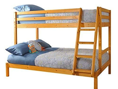 Best Triple Wooden Pine Bunk Bed 3Ft 4Ft In Caramel Finish 640 x 480