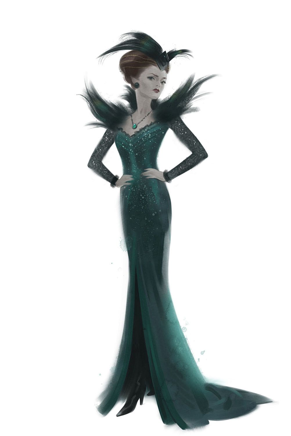 Evanora, the Wicked Witch of the East costume design from Oz the ...