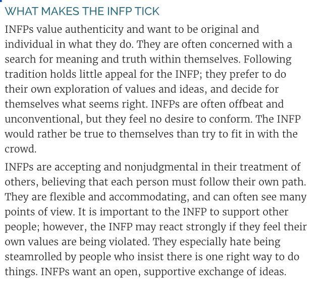 What makes an INFP tick